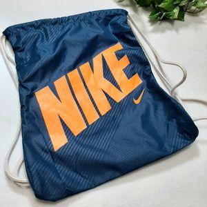 Nike Teal Nylon Drawstring Bag